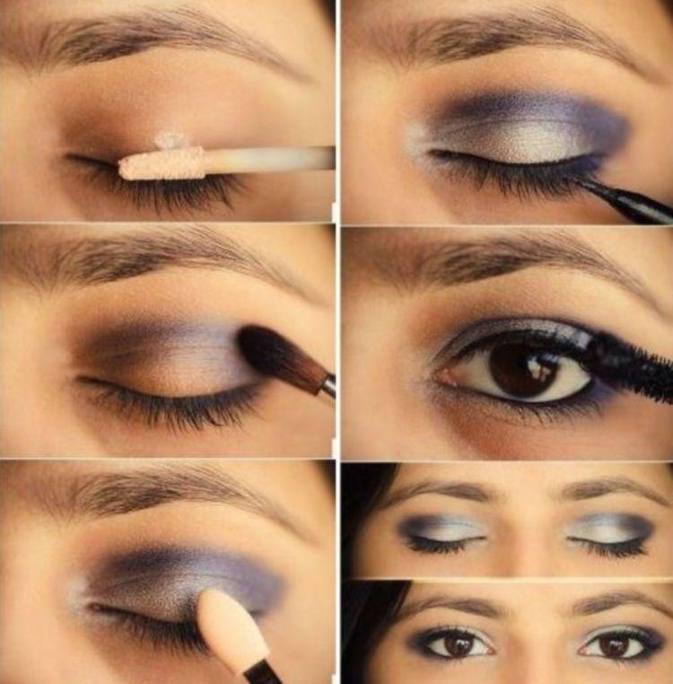 Вечерний макияж нависающее веко