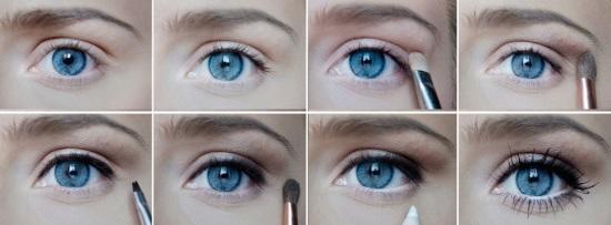 Как зрительно увеличить глаза с помощью макияжа пошагово